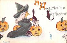 hol012535 - Halloween Post Card Old Vintage Antique