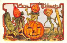 hol012539 - Halloween Post Card Old Vintage Antique