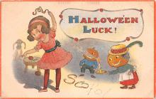 hol012543 - Halloween Post Card Old Vintage Antique