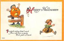 hol012545 - Halloween Post Card Old Vintage Antique