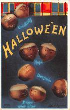 hol012557 - Halloween Post Card Old Vintage Antique