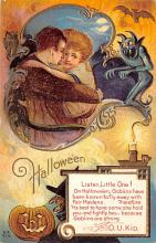 hol012559 - Halloween Post Card Old Vintage Antique