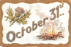 hol012561 - Halloween Post Card Old Vintage Antique