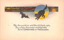 hol012563 - Halloween Post Card Old Vintage Antique