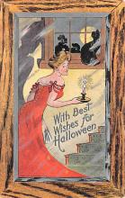 hol012575 - Halloween Post Card Old Vintage Antique