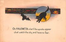hol012579 - Halloween Post Card Old Vintage Antique