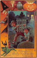 hol012581 - Halloween Post Card Old Vintage Antique