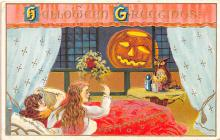 hol012583 - Halloween Post Card Old Vintage Antique