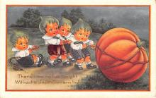 hol012595 - Halloween Post Card Old Vintage Antique