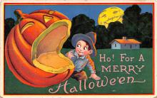 hol012597 - Halloween Post Card Old Vintage Antique