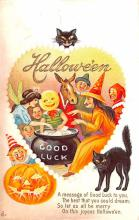 hol012609 - Halloween Post Card Old Vintage Antique