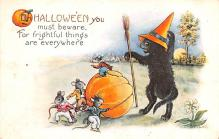 hol012613 - Halloween Post Card Old Vintage Antique