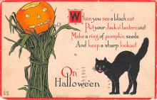 hol012617 - Halloween Post Card Old Vintage Antique