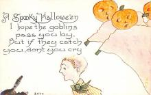hol012629 - Halloween Post Card Old Vintage Antique