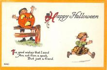 hol012631 - Halloween Post Card Old Vintage Antique