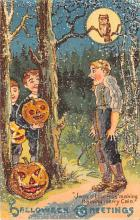 hol012641 - Halloween Post Card Old Vintage Antique