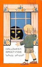 hol012643 - Halloween Post Card Old Vintage Antique