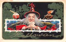 hol012653 - Halloween Post Card Old Vintage Antique