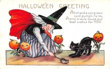 hol012657 - Halloween Post Card Old Vintage Antique