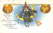 hol012659 - Halloween Post Card Old Vintage Antique