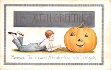 hol012661 - Halloween Post Card Old Vintage Antique