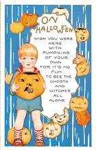 hol012663 - Halloween Post Card Old Vintage Antique