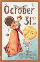 hol012665 - Halloween Post Card Old Vintage Antique