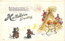 hol012667 - Halloween Post Card Old Vintage Antique