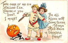 hol012671 - Halloween Post Card Old Vintage Antique