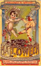 hol012673 - Halloween Post Card Old Vintage Antique