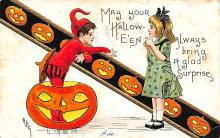 hol012675 - Halloween Post Card Old Vintage Antique