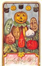 hol012683 - Halloween Post Card Old Vintage Antique