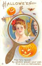 hol012687 - Halloween Post Card Old Vintage Antique