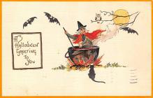 hol012689 - Halloween Post Card Old Vintage Antique