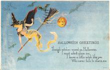 hol012695 - Halloween Post Card Old Vintage Antique
