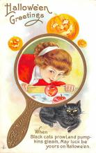 hol012701 - Halloween Post Card Old Vintage Antique