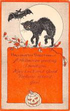 hol012703 - Halloween Post Card Old Vintage Antique