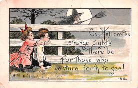 hol012705 - Halloween Post Card Old Vintage Antique