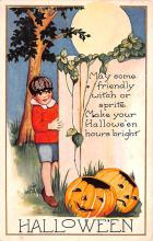 hol012707 - Halloween Post Card Old Vintage Antique
