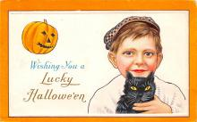 hol012713 - Halloween Post Card Old Vintage Antique
