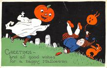 hol012721 - Halloween Post Card Old Vintage Antique