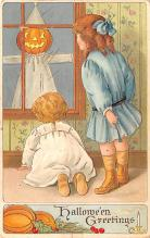 hol012723 - Halloween Post Card Old Vintage Antique
