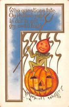 hol012731 - Halloween Post Card Old Vintage Antique