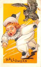 hol012737 - Halloween Post Card Old Vintage Antique