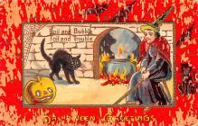 hol012741 - Halloween Post Card Old Vintage Antique