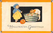 hol012743 - Halloween Post Card Old Vintage Antique