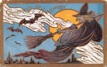 hol012751 - Halloween Post Card Old Vintage Antique