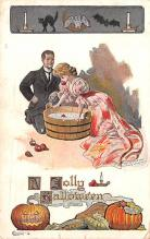hol012753 - Halloween Post Card Old Vintage Antique