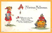 hol012769 - Halloween Post Card Old Vintage Antique