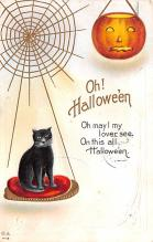 hol012771 - Halloween Post Card Old Vintage Antique